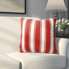Roslyn Stripes Throw Pillow Size: 18