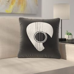 Strum Throw Pillow Size: 18