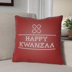 Happy Kwanzaa Indoor/Outdoor Throw Pillow Size: 20