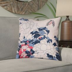 Clair Peonies and Butterfly Indoor Throw Pillow Size: 20