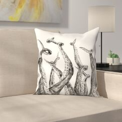 Jetty Printables Octopus Tentacle Illustration Throw Pillow Size: 16