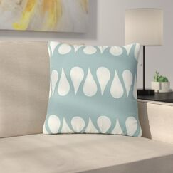 Jennifer Rizzo Altered Raindrops Abstract Outdoor Throw Pillow Size: 18