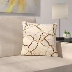 Drought Outdoor Throw Pillow Size: 18