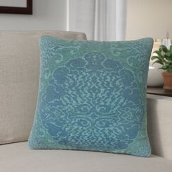 Calypso Damask Down Filled Throw Pillow Size: 24