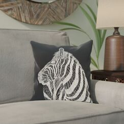 Karle Throw Pillow Color: Black, Size: 18