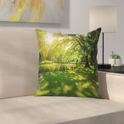 Landscape Pillow Cover with Zipper Size: 20