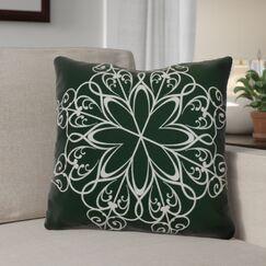 Decorative Snowflake Print Outdoor Throw Pillow Size: 20