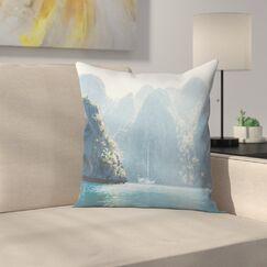 Luke Gram Coron Philippines Throw Pillow Size: 14