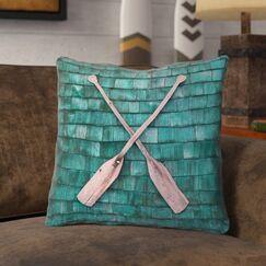 Brushton Rustic Oars Square Throw Pillow Size: 20