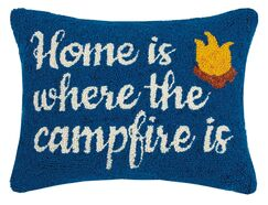 Rauch Home and Campfire Wool Throw Pillow