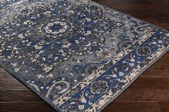 Pelaez Hand-Woven Dark Blue/Black Area Rug Rug Size: Rectangle 5' x 7'6