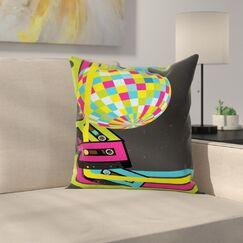 Retro Disco Ball Square Pillow Cover Size: 20