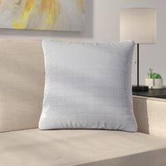 Bloomingdale Throw Pillow Color: Silver