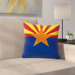 Bruce Stanfield Flag of Arizona Outdoor Throw Pillow Size: 18