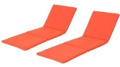 Indoor/Outdoor Chaise Lounge Cushion Fabric: Orange