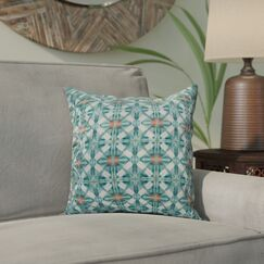 Viet Throw Pillow Color: Aqua, Size: 26