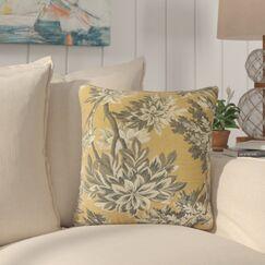 Haeli Floral Down Filled 100% Cotton Throw Pillow Size: 20