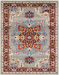 Penton Transitional Gray/Blue Area Rug Rug Size: Rectangle 2' x 3'