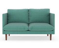 Coutee Weave Loveseat Upholstery: Peppercorn, Finish: Walnut