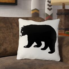 Hector Scary Bear Throw Pillow Size: 16