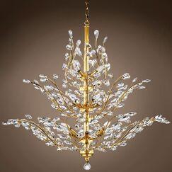 Mendiola 18-Light Chandelier Crystal Grade: European, Crystal Color: Golden Teak, Bulb Type: LED