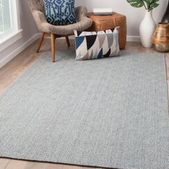 Criss Hand-Woven Steel Gray/Cameo Blue Area Rug Rug Size: Rectangle 2' x 3'