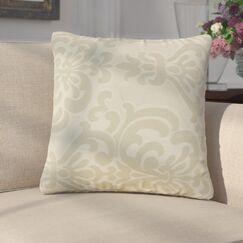 Anatolio Damask Cotton Throw Pillow Color: Ivory