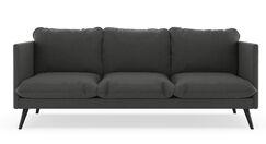 Covertt Oxford Weave Sofa Finish: Chrome, Upholstery: Ocean Gray