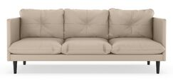 Scheid Vegan Sofa Upholstery: Ivory, Finish: Walnut