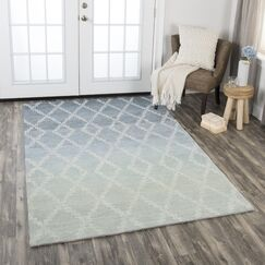 Roberts Hand-Tufted Wool Gray Area Rug Rug Size: Rectangle 8' x 11'