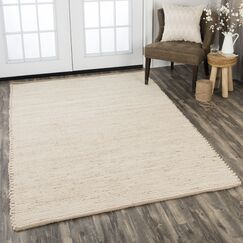 Holler Hand-Woven Wool Tan Area Rug Rug Size: Rectangle 7'6