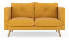 Covell Cross Weave Loveseat Finish: Natural, Upholstery: Sunflower