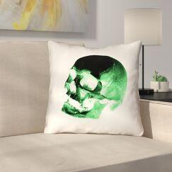 Skull Outdoor Throw Pillow Size: 20