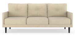 Cozine Pebble Weave Sofa Finish: Natural, Upholstery: Poppy Orange