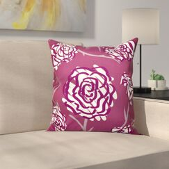 Aletha Spring Floral 2 Print Throw Pillow Size: 16