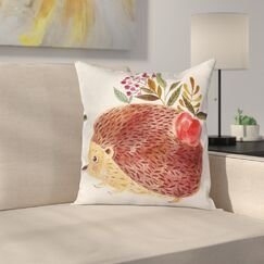 Modern Animal Square Pillow Cover with Zipper Size: 18