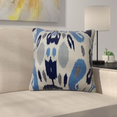 Mcree Ikat Down Filled 100% Cotton Throw Pillow Size: 20
