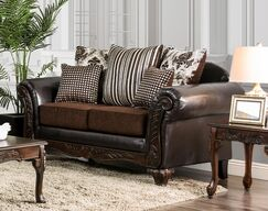 Ridings Loveseat Upholstery: Brown
