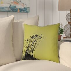Cournoyer Indoor/Outdoor Throw Pillow Color: Teal/Onyx Black, Size: 18