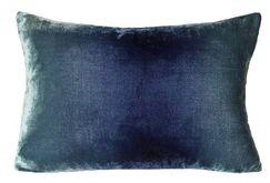 Ombre Velvet Lumbar Pillow Color: Shark