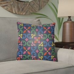 Dillion Indoor/Outdoor Throw Pillow Color: Navy, Size: 26
