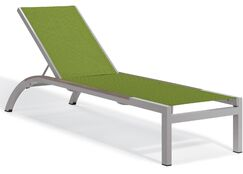 Saleem Armless Reclining Chaise Lounge Color: Go Green, Frame Color: Tekwood Vintag