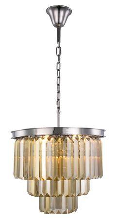 Lavinia 9-Light Chandelier Finish: Polished Nickel, Crystal Color: Smoky