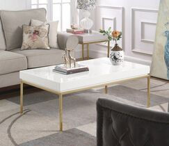 Laforge Center Coffee Table Table Top Color: White