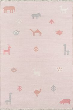 Thompson Porter Hand-Woven Wool Pink Area Rug Rug Size: Rectangle 3'6