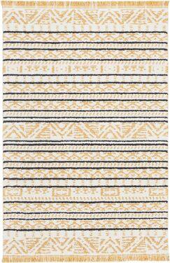 Penwell Yellow Area Rug Rug Size: Rectangle 3'11