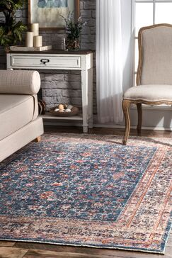Pensford Blue Area Rug Rug Size: Rectangle 7'10
