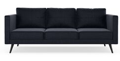 Rundell Sofa Upholstery: Jade Green, Finish: Chrome