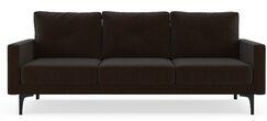 Rusty Sofa Finish: Black, Upholstery: Espresso