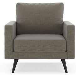 Rupert Armchair Finish: Chrome, Upholstery: Pebble